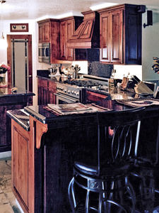 custom kitchen cabinets by Van's Cabinet Shop.