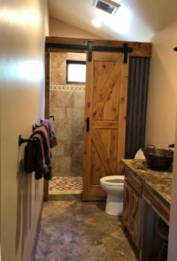 Barn Bathroom by Van's Custom Cabinetry