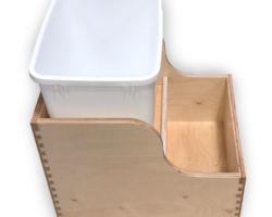 Single Trash Rear Storage